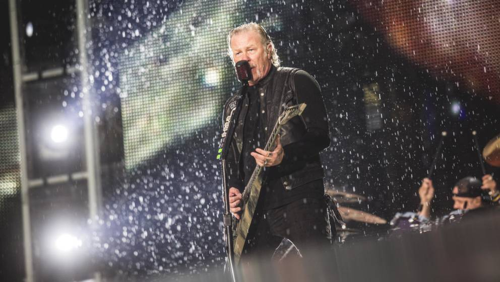 BERLIN, GERMANY - JULY 06: Singer James Hetfield of the american band Metallica performs live on stage during a concert at Ol