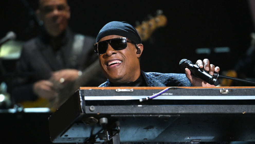 LOS ANGELES, CA - FEBRUARY 12:  Stevie Wonder performs onstage during Motown 60: A GRAMMY Celebration at Microsoft Theater on