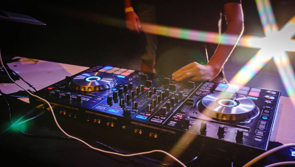 DJ working on concert