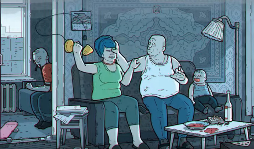 Dysfunctional Family: Homer, Marge, Maggie und Bart