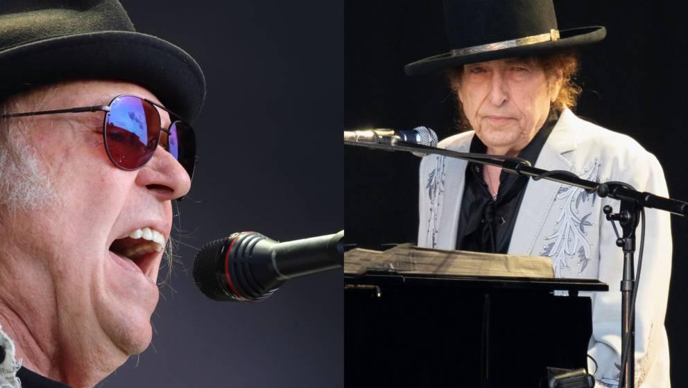 Dinosaurier-Treffen: Neil Young und Bob Dylan auf einem Festival