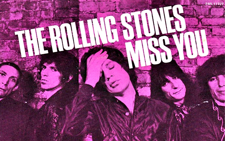 "Single-Cover von ""Miss You"" - Rolling Stones"