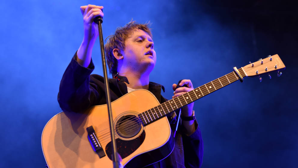LONDON, ENGLAND - JULY 10: Lewis Capaldi performs on stage during Day 2 of Kew The Music at Kew Gardens on July 10, 2019 in L