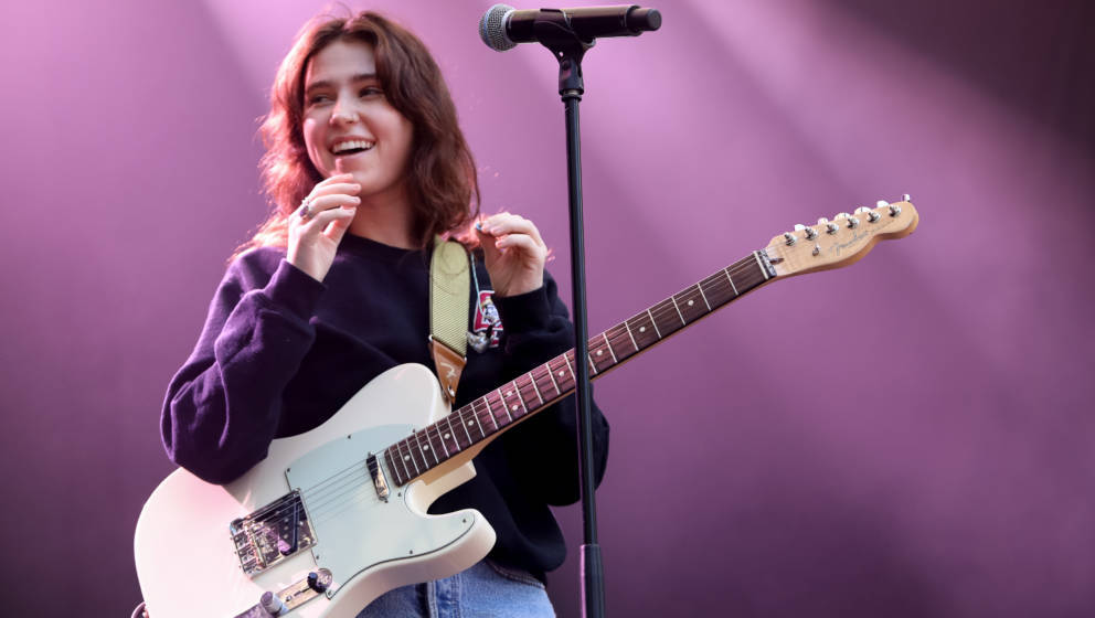 AUCKLAND, NEW ZEALAND - JANUARY 28: Claire Cottrill of Clairo performs on stage at St Jerome's Laneway Festival on January 28