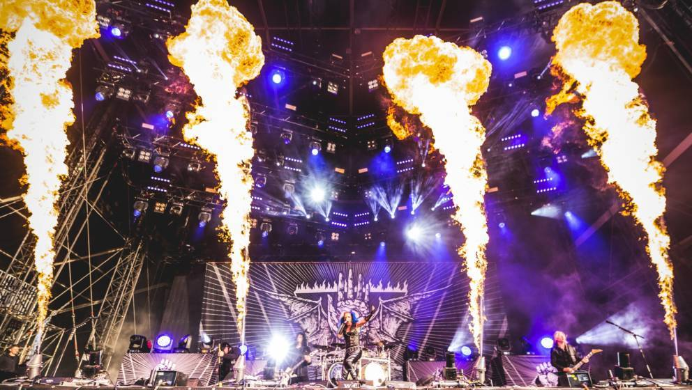 Die schwedische Band Arch Enemy bei Wacken 2018.