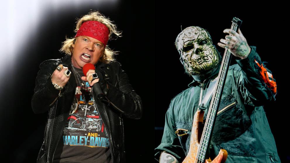 Axl Rose von Guns n' Roses und Alessandro Venturelle von Slipknot