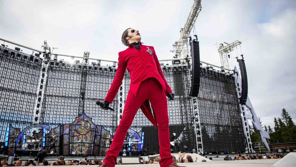 TRONDHEIM, NORWAY - JULY 13: Tobias Forge aka Cardinal Copia of Ghost performs at Granåsen on July 13, 2019 in Trondheim