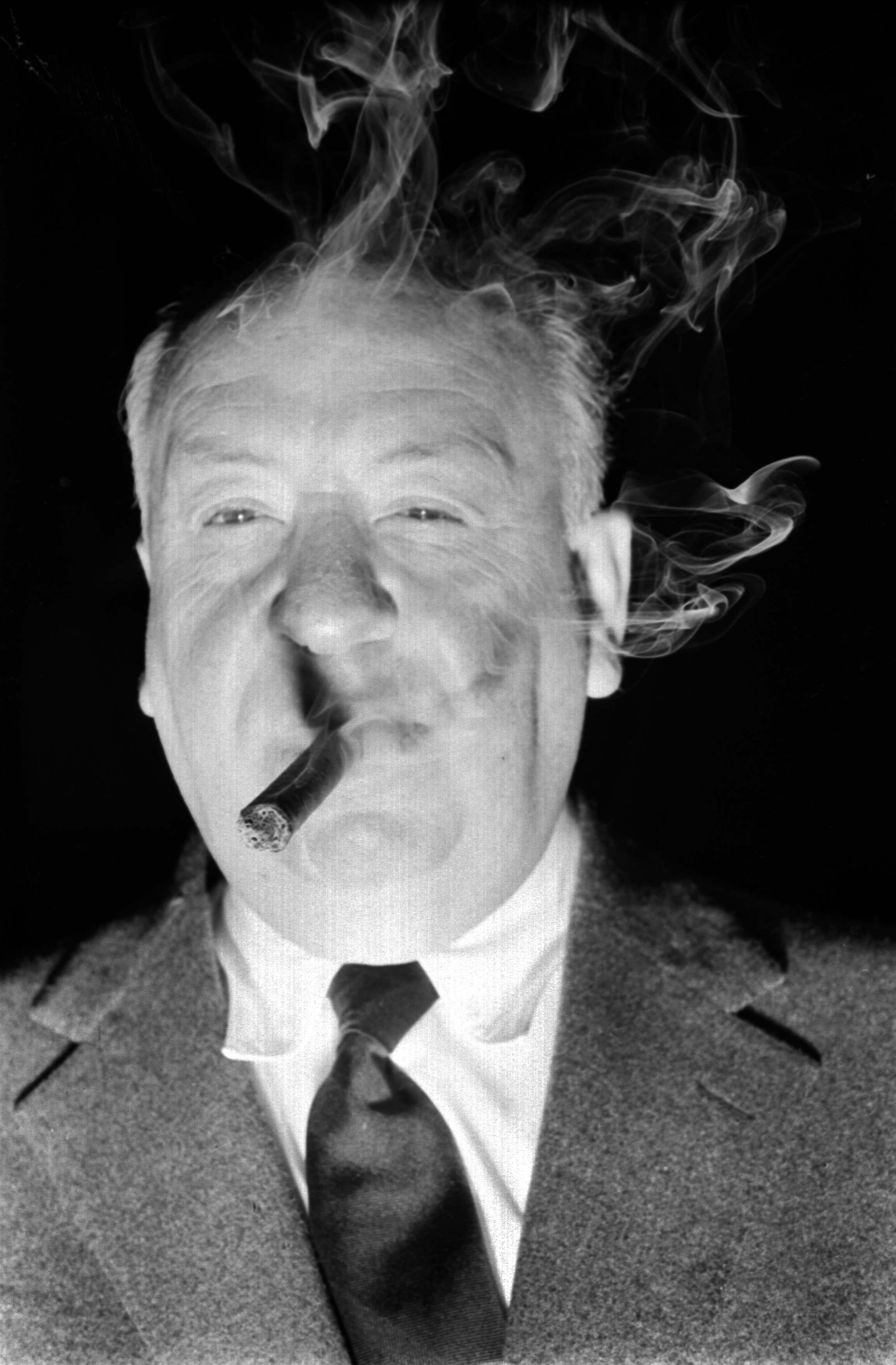 Hitchcock war ein leidenschaftlicher Zigarrenraucher