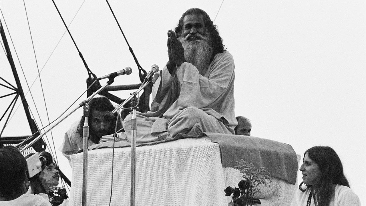 Swami Satchidananda eröffnete das Festival.
