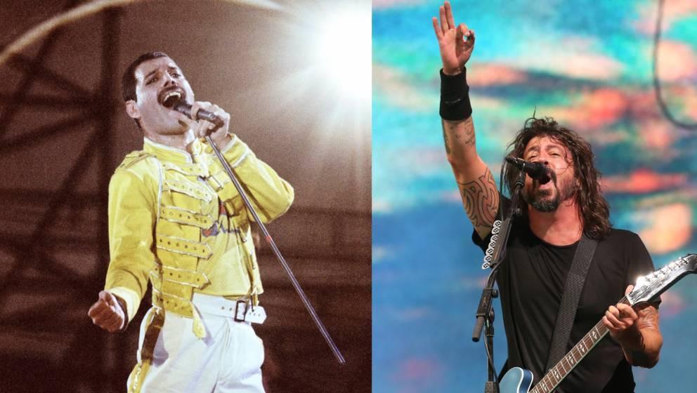"""Foo Fighters spielen """"Under Pressure""""mit Double von Freddie Mercury"""