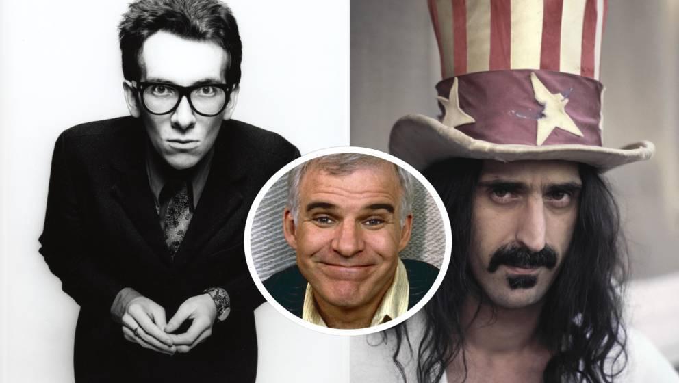 Stehen unter Urheberverdacht: Elvis Costello, Frank Zappa und Steve Martin