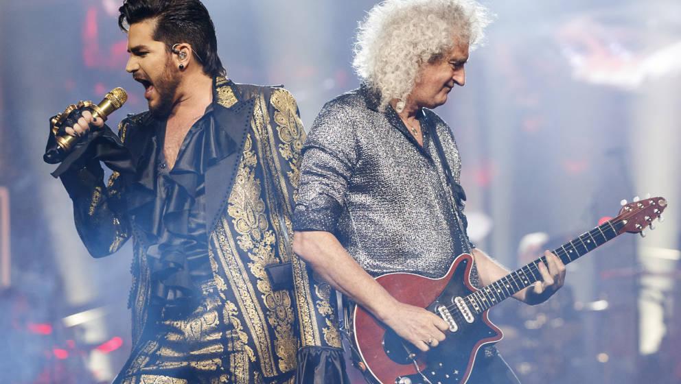 Adam Lambert und Brian May von Queen