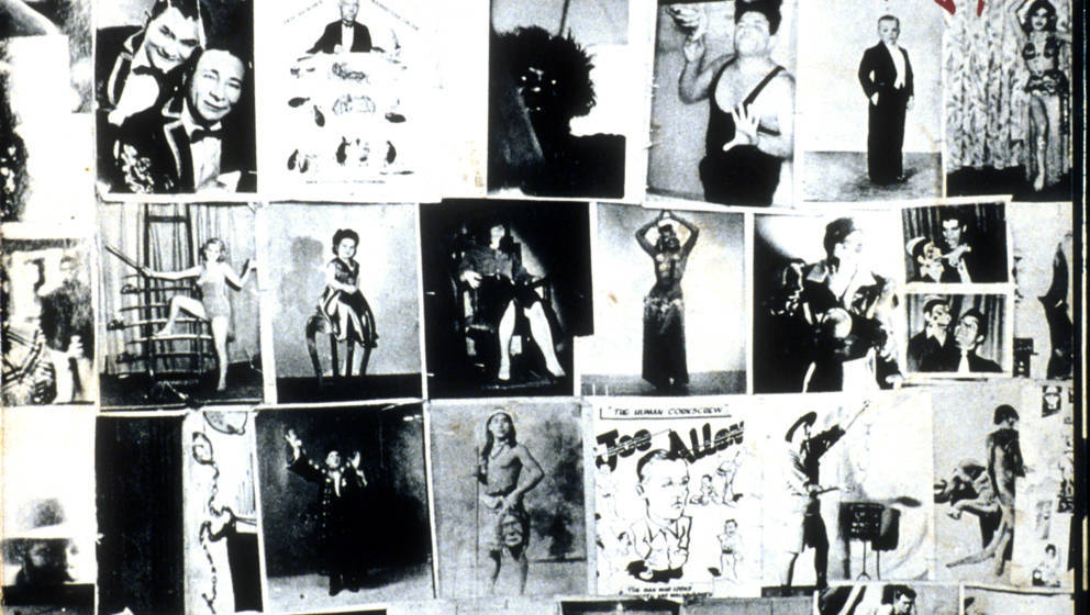 MAY 12: Album cover for rock and roll band 'The Rolling Stones' record 'Exile On Main Street' designed by John Van Hamersveld
