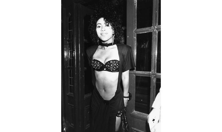 Cat, musician Prince's current girlfriend, attending his party at Camden Palace, London, July 27th 1988. (Photo by Dave Hogan