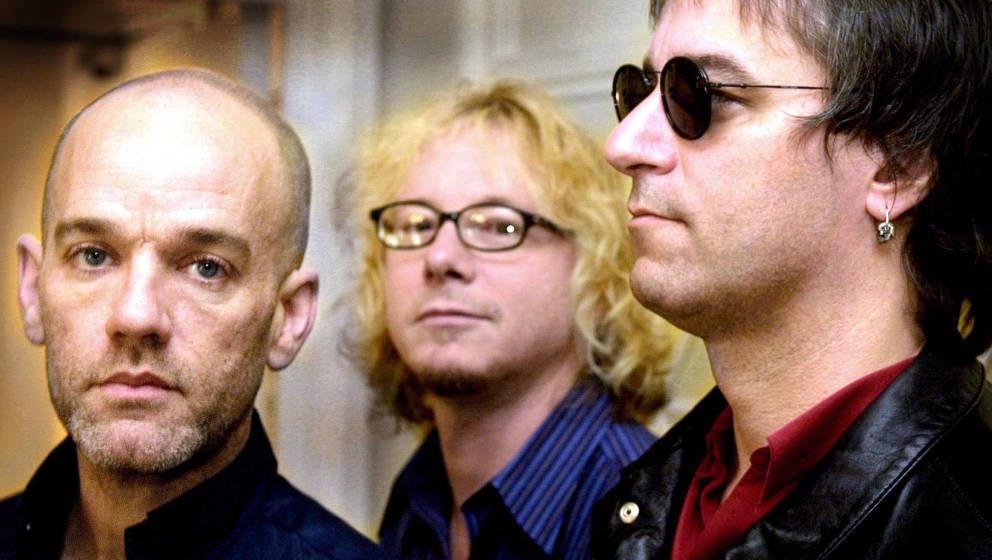 """R.E.M. 2001, zur Zeit der Aufnahmen von """"Reveal"""""""
