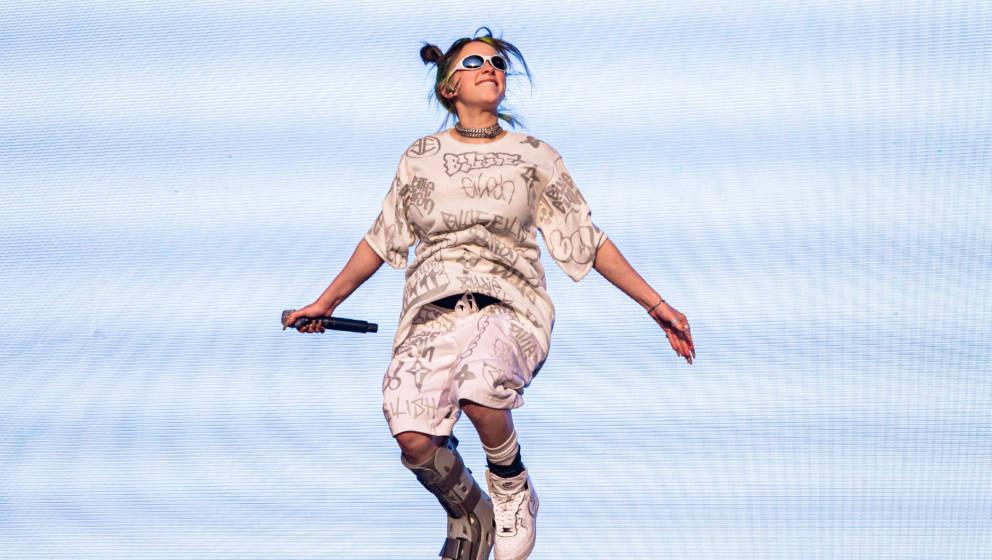 Billie Eilish in der Luft – bei ihrem Auftritt am Music Midtown Festival in Atlanta