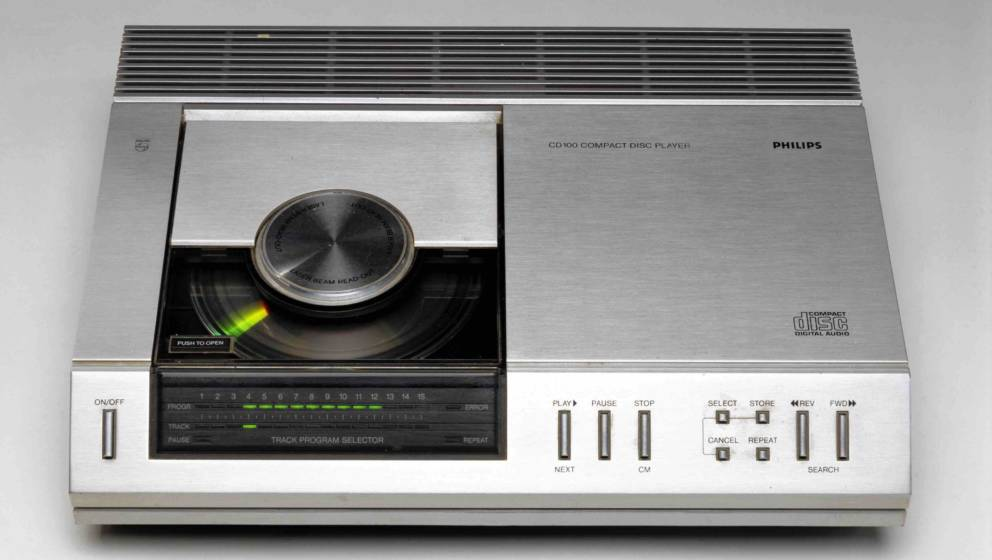 NETHERLANDS - OCTOBER 17:  Compact disc (CD) player, Model CD100, made by Philips of Holland. The CD was developed by Philips