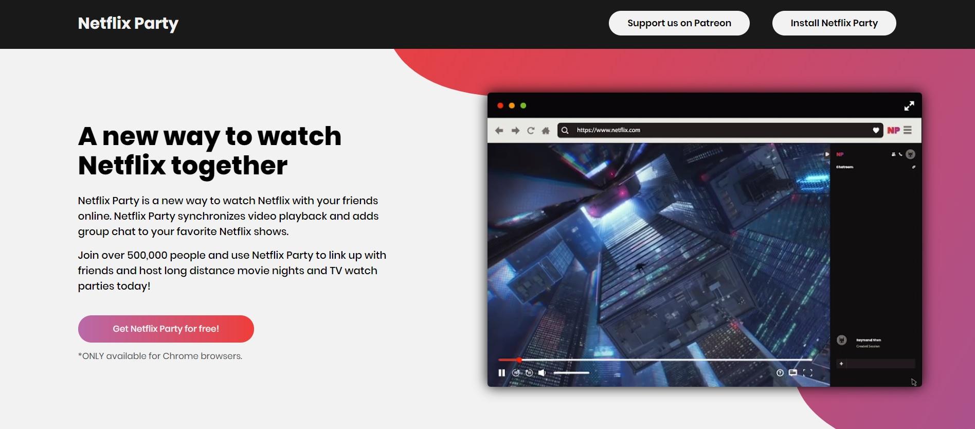 Netflix Party Filme und Serien gemeinsam mit Freunden schauen ...