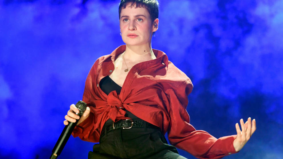 INDIO, CA - APRIL 13:  Christine and the Queens performs at the Outdoor Theatre during the 2019 Coachella Valley Music And Ar