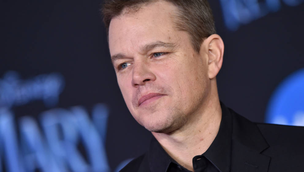LOS ANGELES, CA - NOVEMBER 29:  Matt Damon attends the premiere of Disney's 'Mary Poppins Returns' at El Capitan Theatre on N