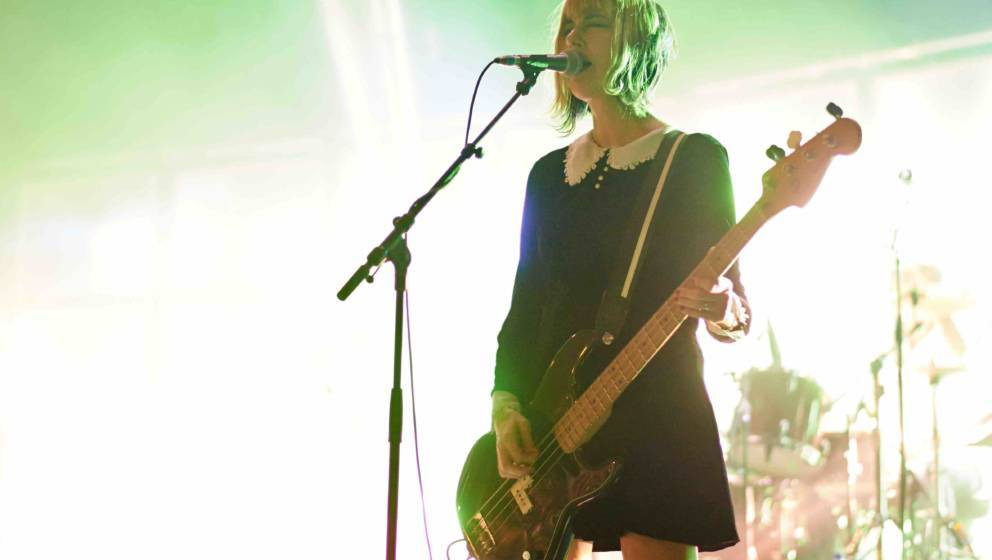 MANCHESTER, UNITED KINGDOM - NOVEMBER 21: Kim Shattuck of Pixies performs on stage at Manchester Apollo on November 21, 2013