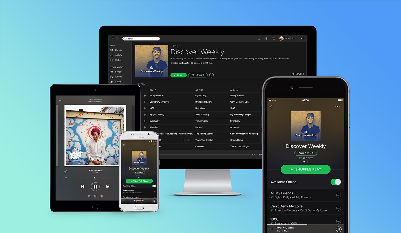 Spotify läuft auf einer Vielzahl verschiedener Endgeräte