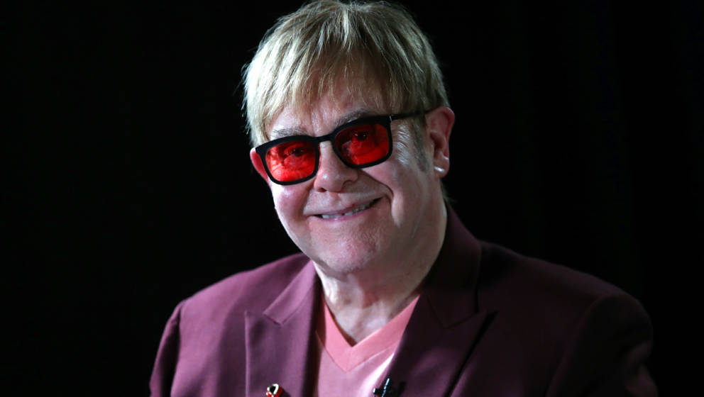LONDON, ENGLAND - JUNE 08:  Sir Elton John smiles during a lecture on 'The Diana, Princess of Wales Lecture on HIV' at French