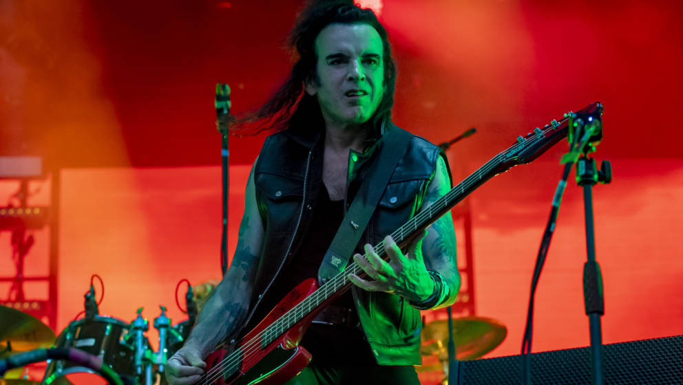 FLORENCE, ITALY - JUNE 15: Simon Gallup of The Cure performs during the Firenze Rocks Festival 2019 at Visarno Arena on June