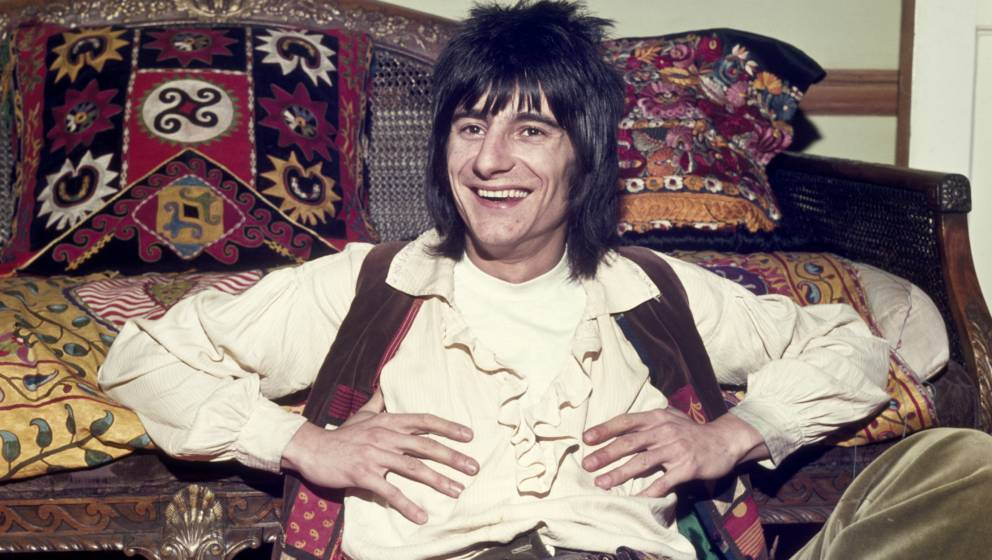 LONDON, UK - 01 JAN 1976: Ronald David 'Ronnie' Wood is an English rock musician best known as a member of the Rolling Stones