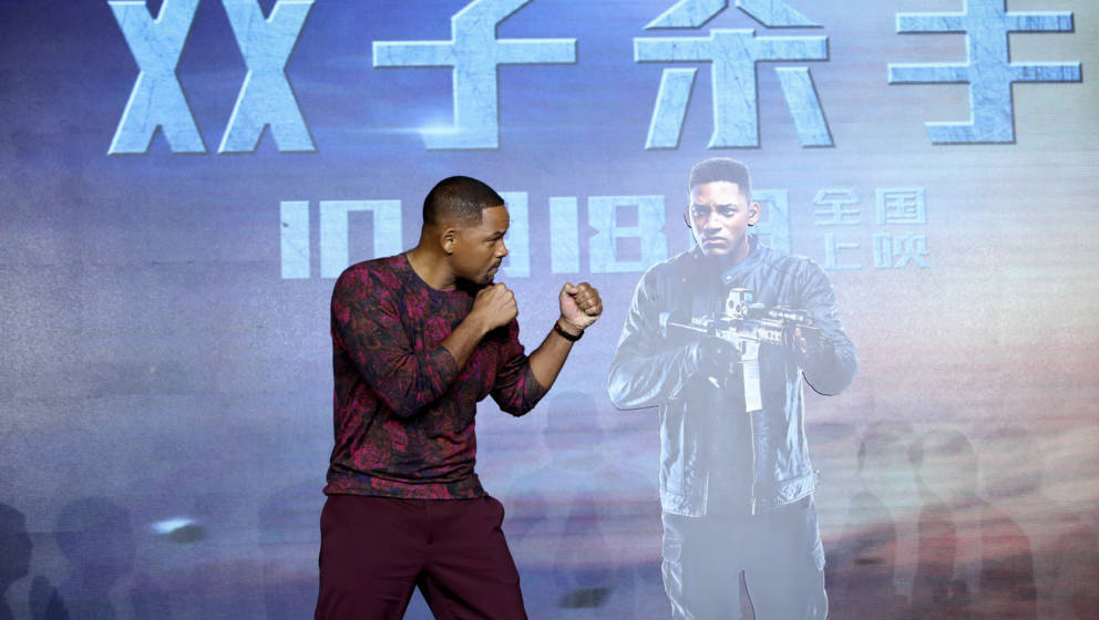SHANGHAI, CHINA - OCTOBER 14: Actor Will Smith attends 'Gemini Man' press conference on October 14, 2019 in Shanghai, China.