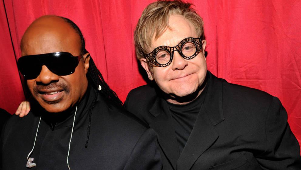 Seit vielen Jahren befreundet: Stevie Wonder und Elton John