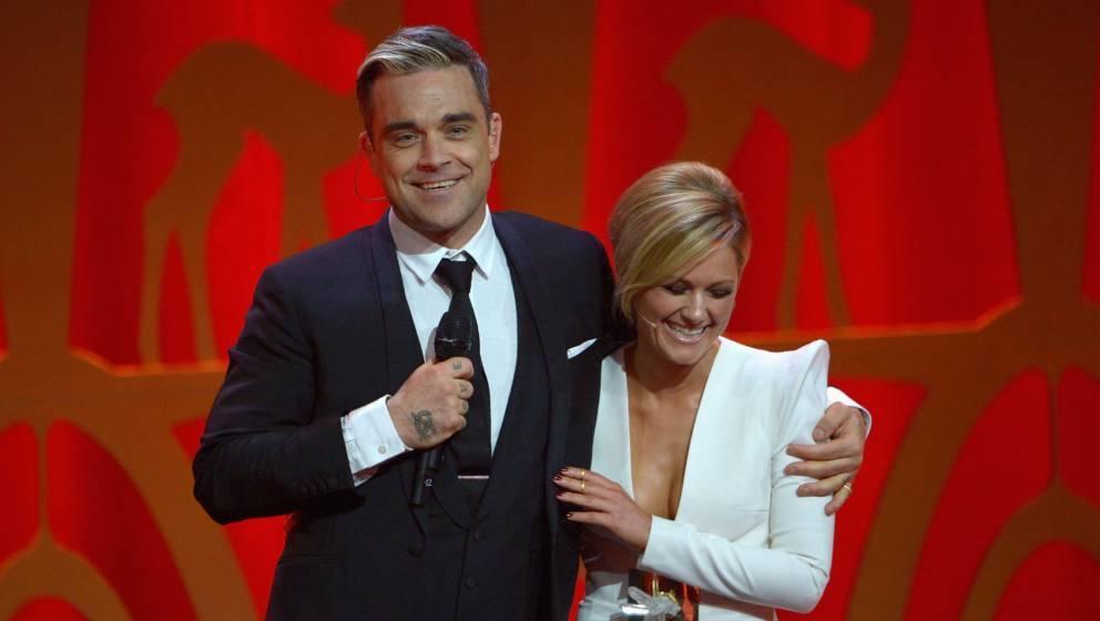 Kennen und schätzen sich: Robbie Williams und Helene Fischer