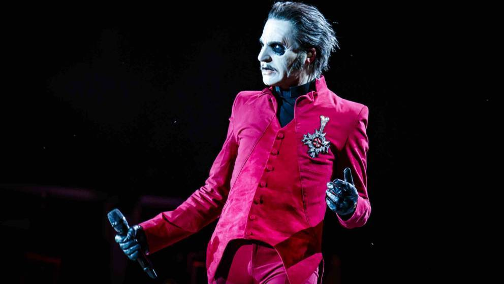 MONTREAL, QUEBEC - JULY 27: Tobias Forge aka Cardinal Copia of Ghost performs at Heavy Montreal at Parc Jean-Drapeau on July