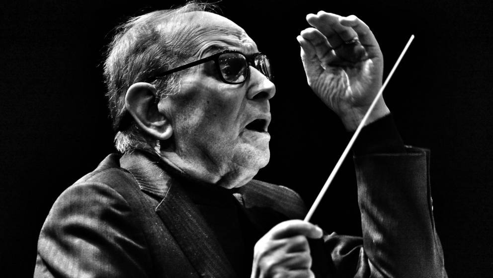 Italian composer Ennio Morricone performs at the O2 Arena, on February 16, 2016 in London, England. *** Local Caption *** Enn