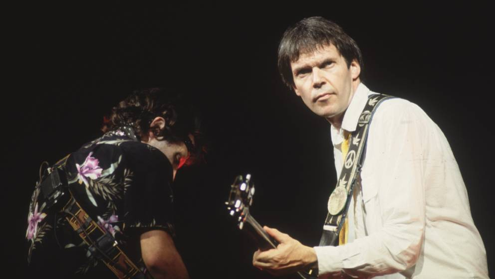 Neil Young, live bei einem Konzert 1982