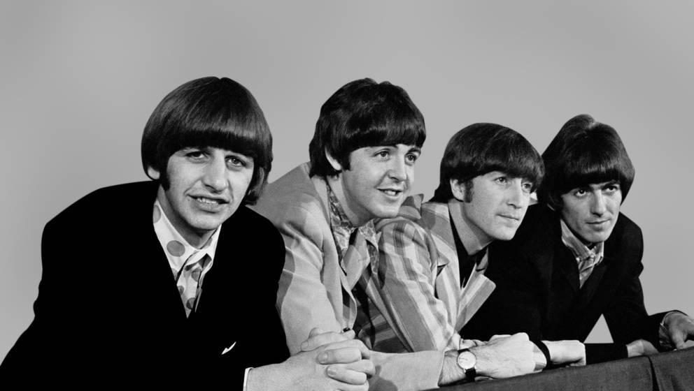 NEW YORK - AUGUST 6:  The Beatles during a press conference on August 6, 1966 in New York, New York. (Photo by Santi Visalli/