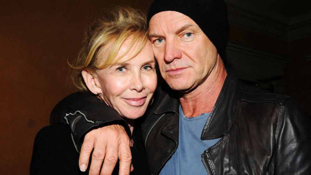 NEW YORK, NY - OCTOBER 27: Actress/producer Trudie Styler and her husband singer Sting attend the Abrons Arts Center on Octob
