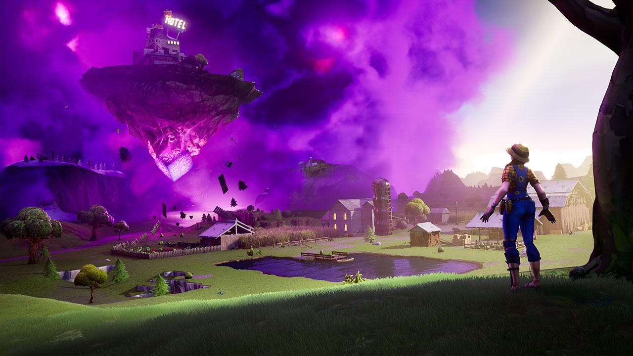 """In """"Fortnite"""" gibt es auch schwebende Inseln"""