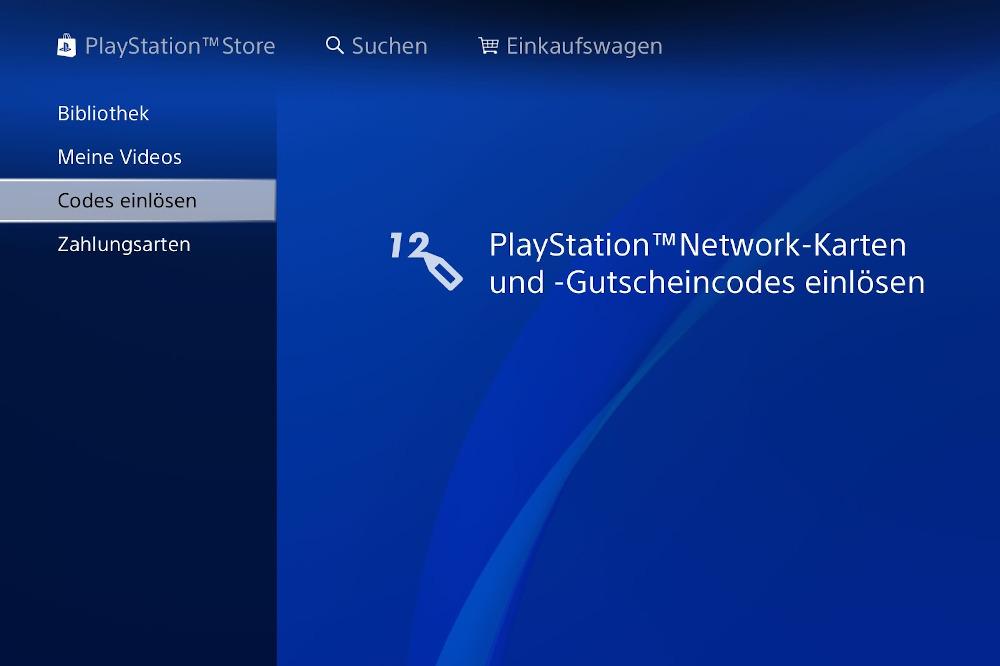 Gutschein einlösen auf der PS4 – so geht's