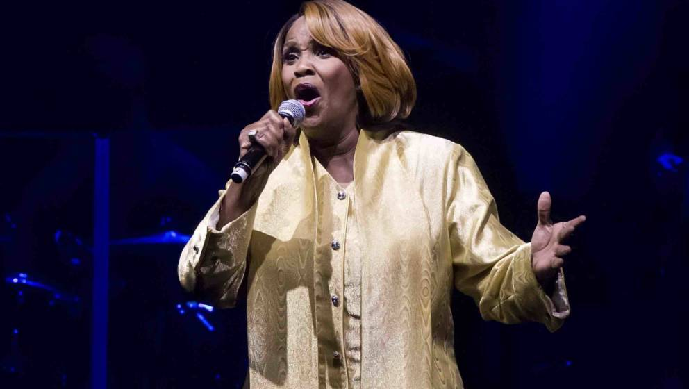 BERLIN, GERMANY - DECEMBER 20: American singer Queen Esther Marrow performs live during a concert with The Harlem Gospel Sing