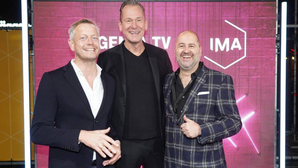 Christian Loefert, Springer-Chef Mathias Doepfner, Michael Schuld Credit: M. Nass IMA - International Music Award in der Vert