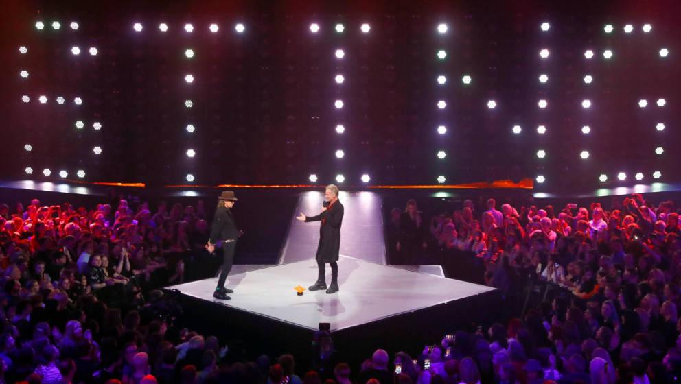 Sting und Udo Lindenberg auf der IMA-Bühne