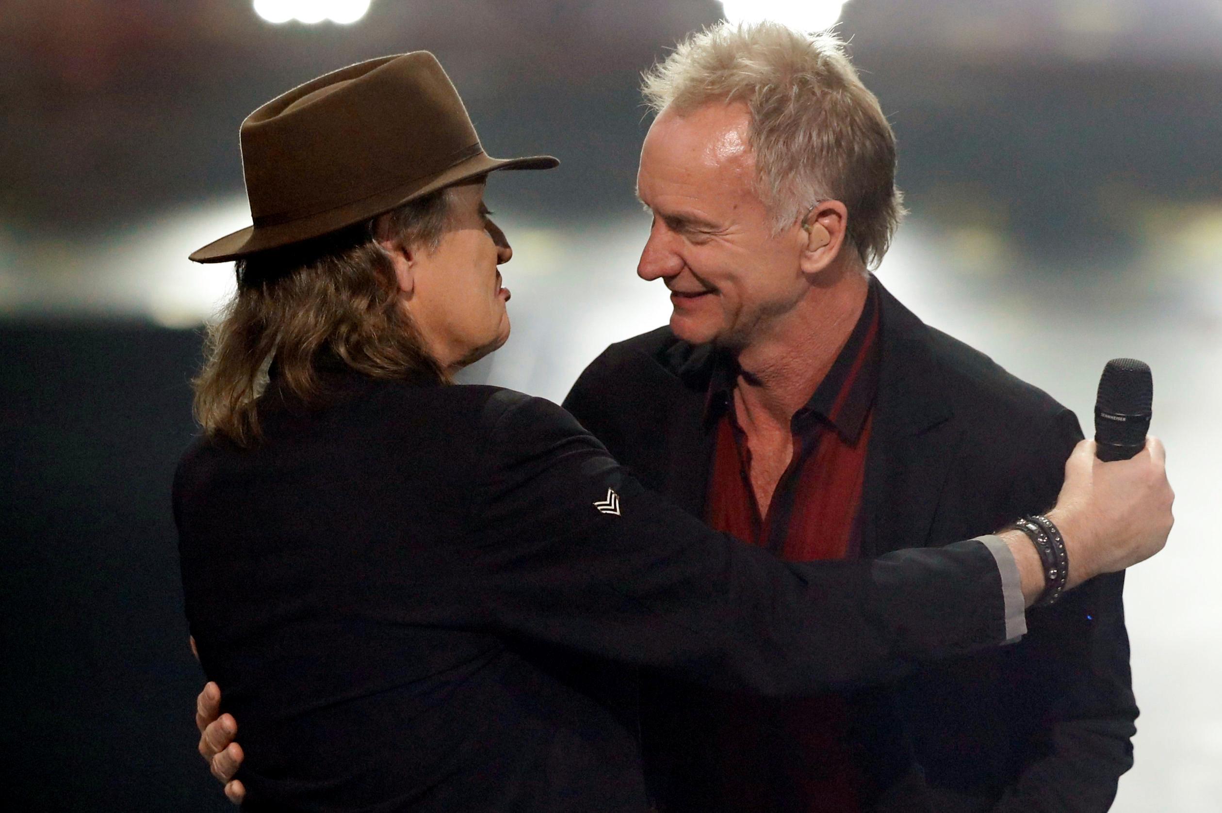 """Für seinen """"guten Freund"""" Sting nahm Udo Lindenberg sogar seine Sonnenbrille ab"""