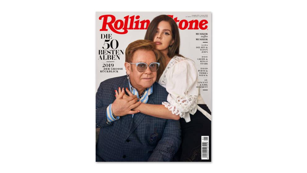 Elton John und Lana Del Rey, die Cover-Stars der Januar-Ausgabe des ROLLING STONE