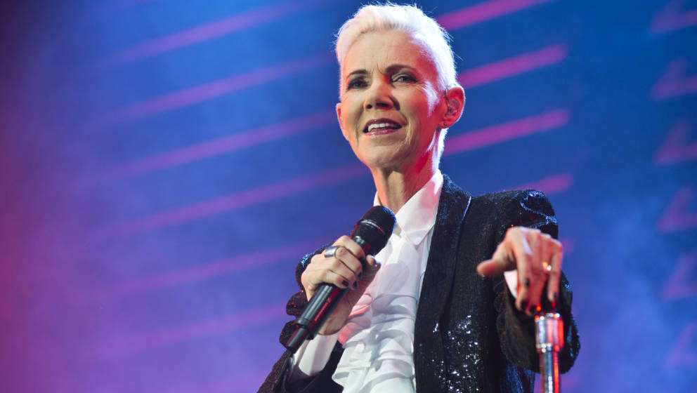 BARCELONA, SPAIN - MAY 14:  Marie Fredriksson of Roxette performs on stage at Sant Jordi Club on May 14, 2015 in Barcelona, S