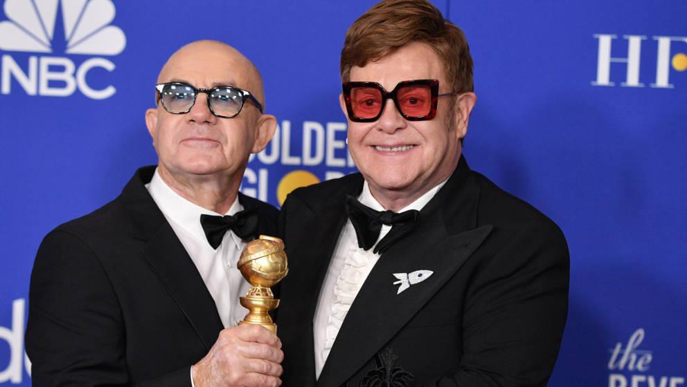 """Bernie Taupin und Elton John bekamen gemeinsam den Golden Globe für den """"besten Song"""""""
