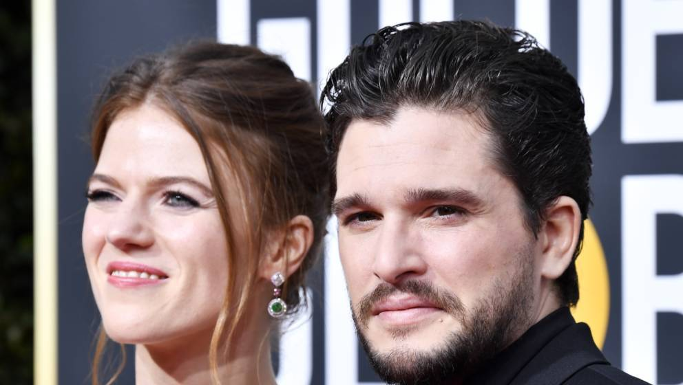 "Wenn man schon kein Glück im (Golden-Globes-)Spiel hat, dann eben in der Liebe: Kit Harington mit Partnerin Rose Leslie, die er beim ""Game of Thrones""-Dreh kennenlernte"