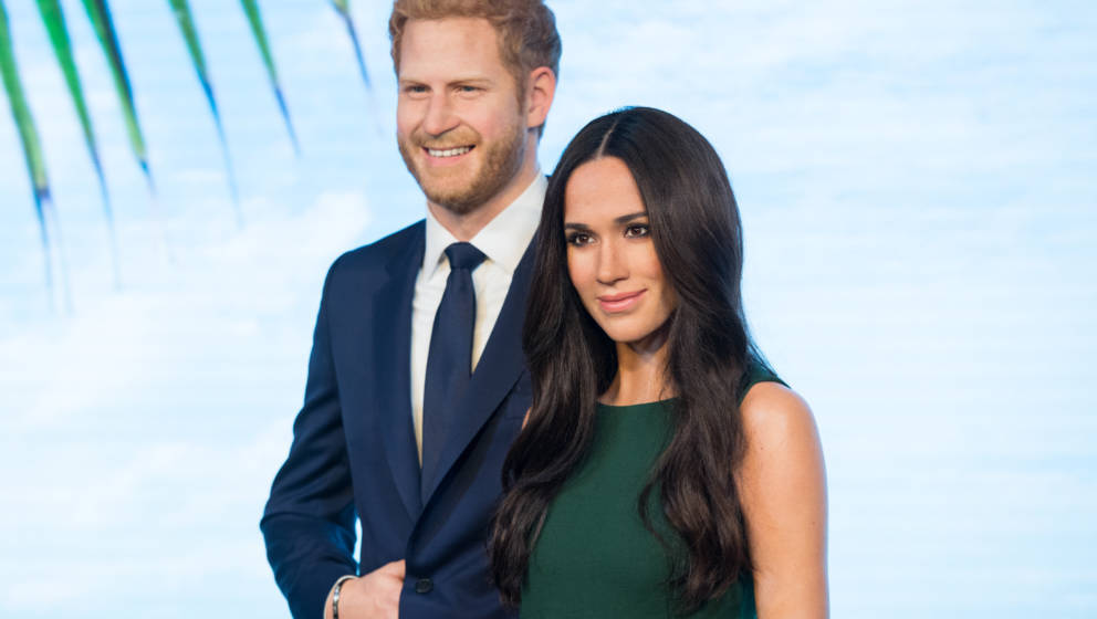LONDON, ENGLAND - MAY 09:  Madame Tussauds unveils a wax figure of Ms. Meghan Markle ahead of her wedding to Prince Harry on