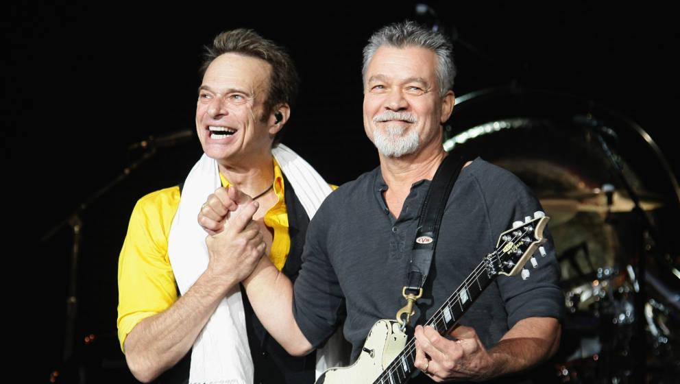 David Lee Roth und Eddie Van Halen bei einem Auftritt im Jahr 2015