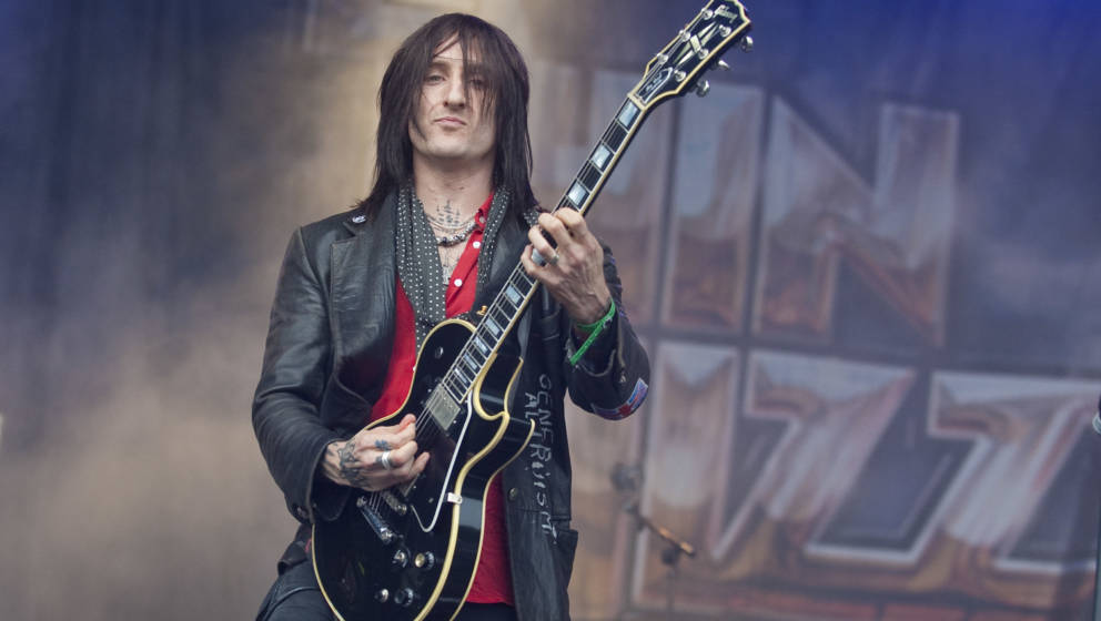 LONDON, UNITED KINGDOM - JULY 23: Richard Fortus of Thin Lizzy performs on the main stage on day one of the High Voltage Fest